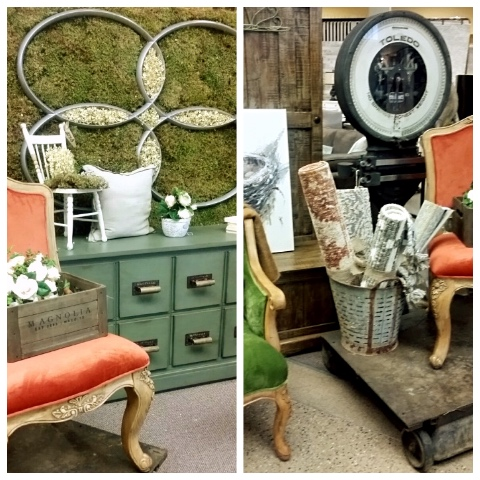Farmhouse inspired display at our Stoney Creek location
