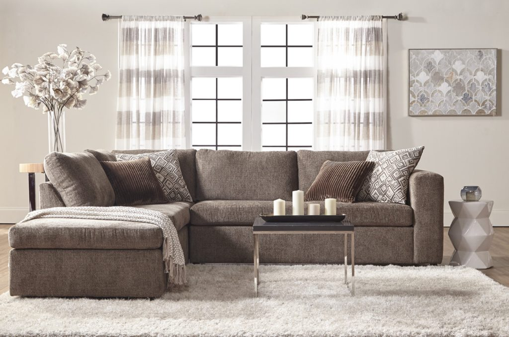 Cozy two-piece sofa chaise