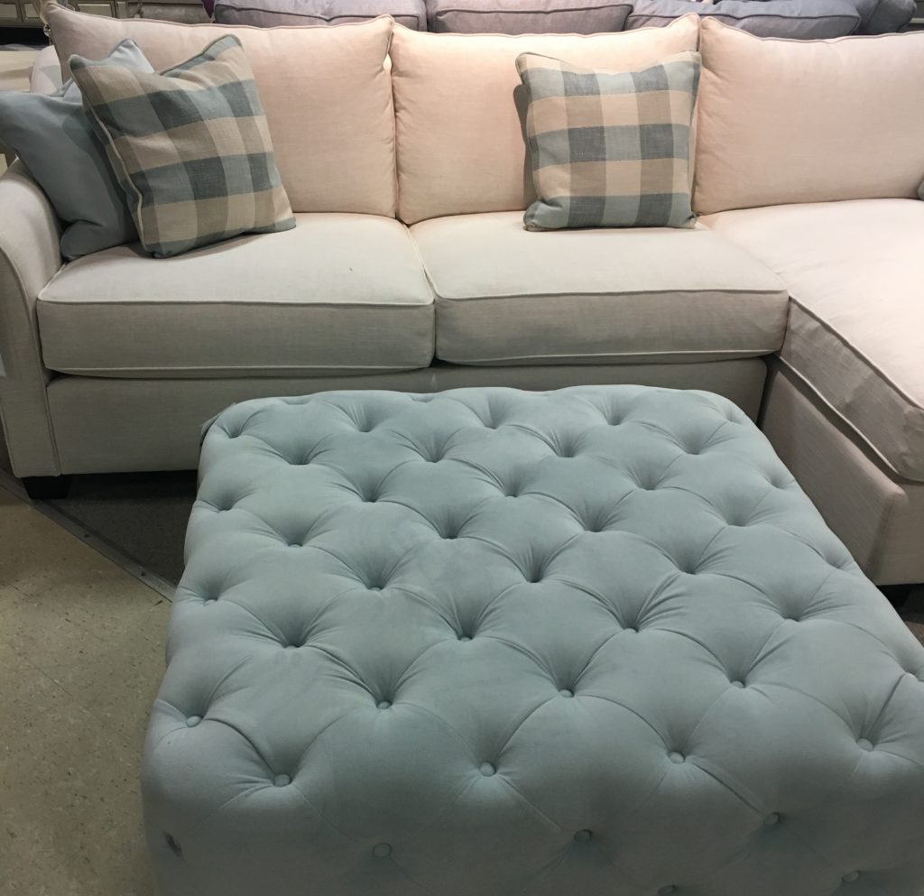Ottoman available at Stoney Creek Furniture.